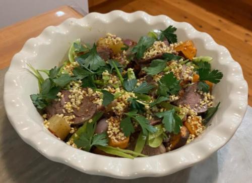 Kibble and veg salad