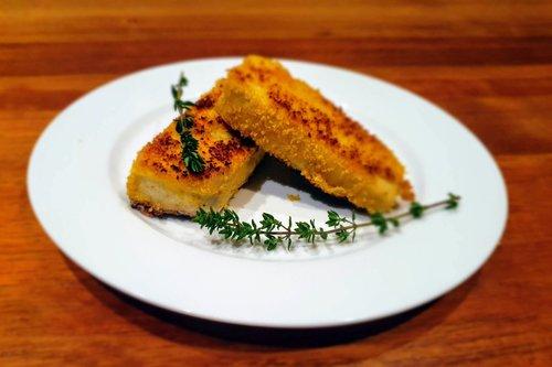 lupin crumbed tofu
