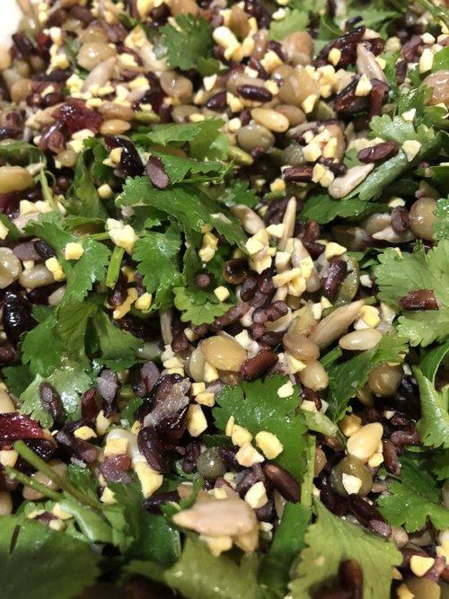 lupin seed salad